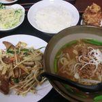 裕福 - 料理写真:「ニラレバ定食」台湾ラーメンで! 2018.03.03