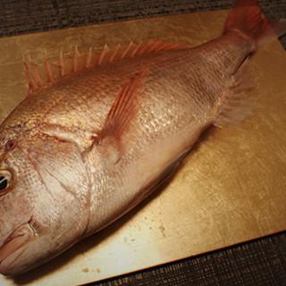 「鯛日本一」である愛媛直送の鯛を使用します。
