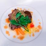 ローストビーフと野菜のエチュベ