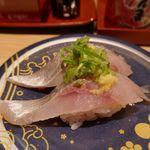 もりもり寿し - 「マアジ」200円は、身のハリの良さとともに、脂の美味しさ満点でうまし!