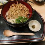 九州博多料理 幸 とりもつえん - ごぼう天うどん