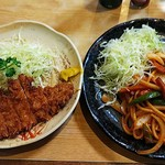 とん鈴 - とんかつ単品(¥550)&ナポリタン(¥750)