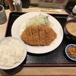 にし邑 - 上ロースかつ膳1,400円