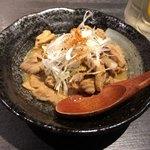 麺酒房 実之和 - 柔らかもつ煮込み(590円)