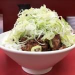 菜苑 - 「純レバ丼ミニサイズ&ラーメン」1000円純レバ丼ミニサイズ