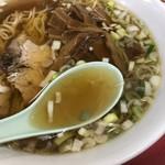 菜苑 - 鶏ガラと思われるスープ
