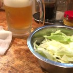 はち揚げ物店 - 生ビール&キャベツ