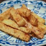 居酒屋 文 - 長芋の焦がしバター醤油