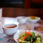 アリス - アリスセットはサラダとスープがセットです。