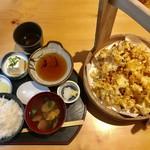 天ぷら すぎ山 - 名物 かきあげ定食¥1,180(税込)