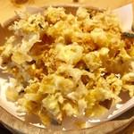 天ぷら すぎ山 - 名物 かきあげ定食¥1,180(税込)のかき揚げ