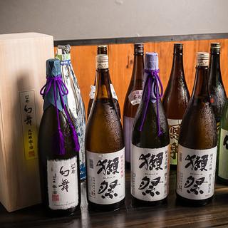 獺祭、飛露喜等プレミアム日本酒あります!要チェック!