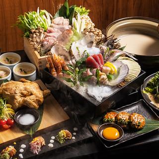 宴会コースは最大3時間飲み放題付3300円より多数ご用意!