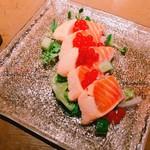 豆腐料理 空野 - サーモンといくらのカルパッチョ
