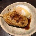 焼き鳥カフェ 鶏小屋 - つくね 温泉卵