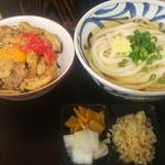 丸まさ - 鶏タレ丼&さぬきうどん(冷)