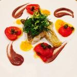 92630618 - (お魚料理)マナガツオ、トマトベリー、カラマタオリーブ