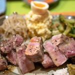 食堂とだか - 料理写真:2018.9 黒豚の炭火焼き(1,800円)