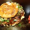 ぼてや - 料理写真:「関西風おこのみ焼 今治やきとり玉(やきとり、ねぎ、玉子のせ)」(990円)