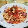 Maji - 料理写真:☆玉ねぎとベーコンの辛口トマトスパゲティ 1000円