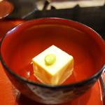 料理旅館 田事 - とうもこしが入った豆腐