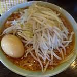 ラーメン マシンガン - 辛そば1型並750円+味玉