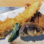 手打ち蕎麦 とおるや - 秋の太刀魚の天もり、天かけ