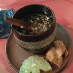 中国精進料理 凛林 - 大根が美しく飾り切りになっていたのでパチリ