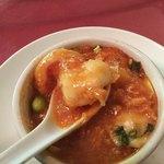 中国精進料理 凛林 - 伊勢海老では無いが大海老のチリソースをチーズで!イタリアンには決してならない!