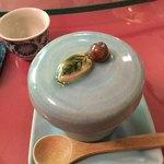 中国精進料理 凛林 - 林さん自作の茶碗