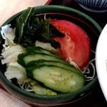すかや - 【2018.9.13(木)】らーめんセット(並盛)780円の野菜サラダ