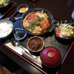 和久 - 豚カツの玉子とじセット/780円