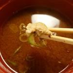 まるさ水産 - 味噌汁のアラ