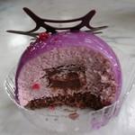 ニューヨーク・デリ - 紫イモのムースの断面です