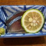 あなぐま亭 - 昼呑セット(鯖きずし)