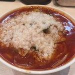 蒙古タンメン中本 - 冷やし味噌野菜、大盛り、背脂、ネギ