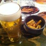9266898 - グラスビール&お通し