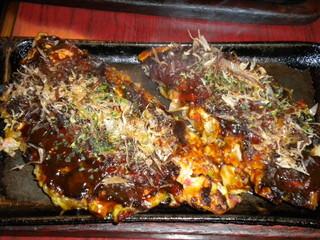 お好みハウス ドンドン - 定食のお好み焼き
