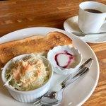 蘭豆 - ホットコーヒー400円とモーニング