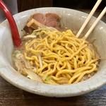92665024 - 味噌らーめん(750円)の麺_2018年9月