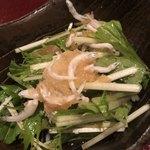 六本木 真おか - シラスと水菜のおろしポン酢添えのアップ