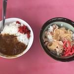 ラーメンショップ - 平日ランチ500円に付くミニカレー&ミニスタミナ丼