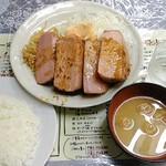 レストランばーく - ハムステーキ定食 800円