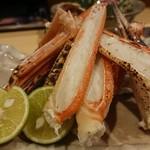 香住 北よし - 焼き蟹(*´ー`*) 予約して、シーズン真っ最中ならどれぐらい美味しいのが食べれるんやろ……♪