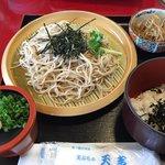 天ぷら 天吉 - 料理写真:天ざるそばセット980円