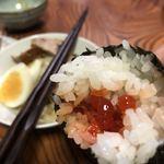 アイザワ商店 ございん - お手製いくらオニギリ&角煮丼で〆