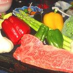 豊福 - 神戸牛ステーキ肉(鉄板焼き)会席