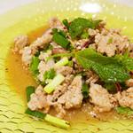 亜州食堂 チョウク - ラープ ムー(豚ミンチの和え物:タイ料理)