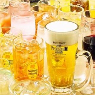 銘柄日本酒計10種も飲み放題のプレアム飲み放題!