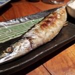 魚哲 - 秋刀魚の塩焼き(890円)